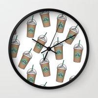starbucks Wall Clocks featuring Starbucks by eARTh