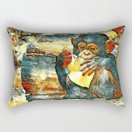 AnimalArt_Chimpanzee_20180202 Rectangular Pillow