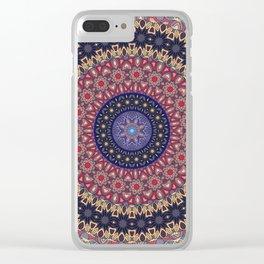 Hippie Mandala Flower, Purple, Mauve, Pink Clear iPhone Case