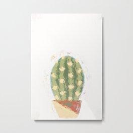 Cactus #painting #minimalist Metal Print