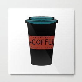 Black and red coffee Metal Print