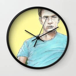 James Dean Tribute comic book cover Wall Clock