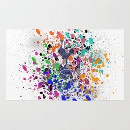 Tottenham Hotspur watercolor Rug