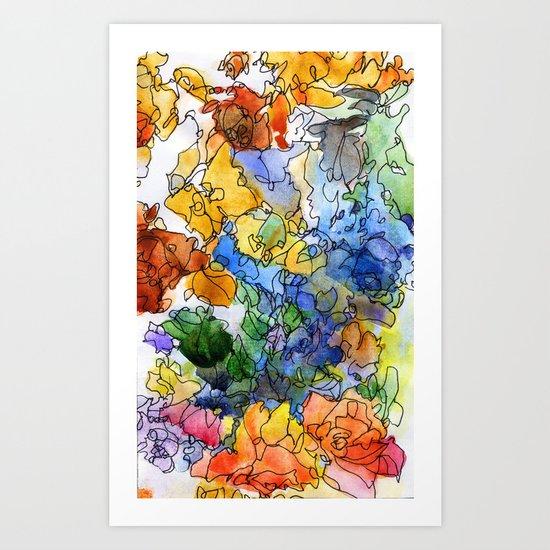 Colored fantasy Art Print