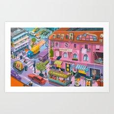 My little Budapest Art Print