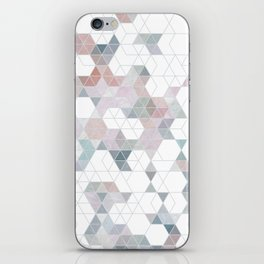 Abstract Snow on Soft Geometry #abstractart #winterart iPhone Skin