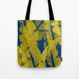 Carved Yellow&Blue Jungle #society6 #decor #buyart Tote Bag