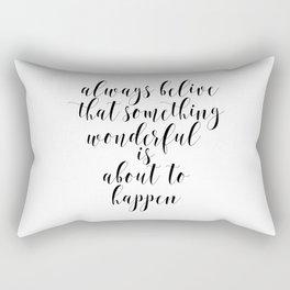 Motivational Poster, Typography Quote, Inspirational Art Rectangular Pillow