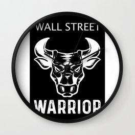Wall Street Warrior Enjoy Capitalism Capitalist  Wall Clock
