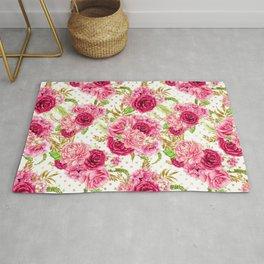 Pink Roses Pattern 01 Rug