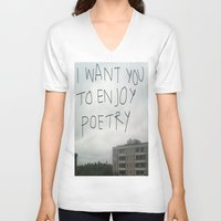 poetry V-neck T-shirts featuring poetry by Willow Summers