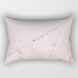 Birds on a wire II Rectangular Pillow