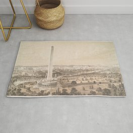 Vintage Pictorial Map of Washington DC (1852) Rug