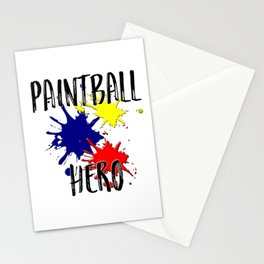 Paintball Hero Stationery Cards