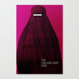 Woman in Burqa Feminist Girl Power Freedom Gender Equality Female Revolution Feminism Canvas Print