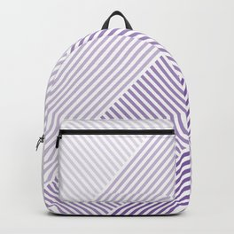 Shades of Purple Abstract geometric pattern Backpack