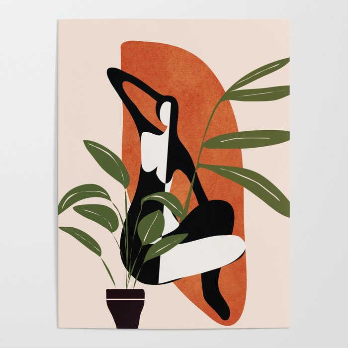 Abstract Female Figure 20 Poster