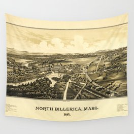 Aerial View of North Billerica, Massachusetts (1887) Wall Tapestry