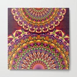 Ankh & Lotus Mandala Metal Print