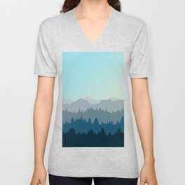 Face This Mountain (No Text) Unisex V-Neck