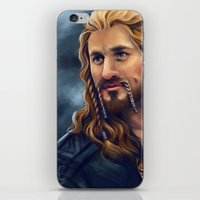 fili iPhone & iPod Skins featuring Fili-Blue and gold by Faerytale-Wings