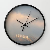hollywood Wall Clocks featuring Hollywood by Bunny Noir
