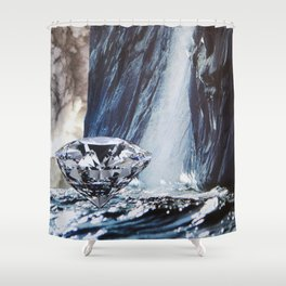 Diamond Sea Shower Curtain