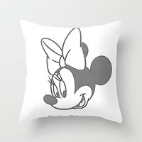 minnie mouse Throw Pillows featuring Minnie Mouse by tshirtsz