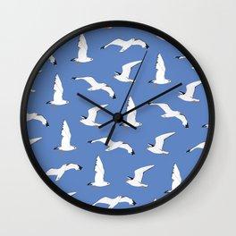 Gathering Seagulls at the Cricket Wall Clock