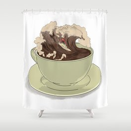 Mocha Surfer Shower Curtain