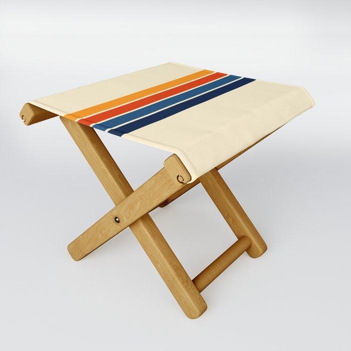 Classic Retro Stripes Folding Stool