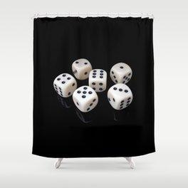 Magic Dice Shower Curtain