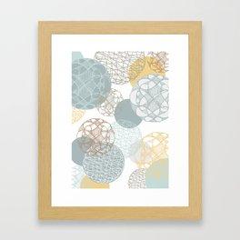 Floating Circles Framed Art Print