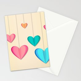 Hangin Hearts Stationery Cards