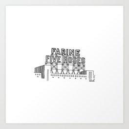 Montréal - Farine Five Roses - Black Art Print