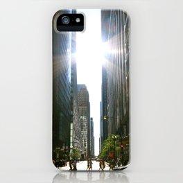 Sun Between Buildings iPhone Case