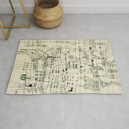 """Paul Klee """"Drawing Knotted in the Manner of a Net"""" Rug"""