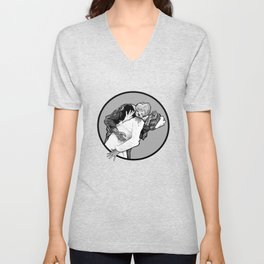 This is Z-Day - The Happy Couple (gray window) Unisex V-Neck