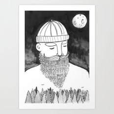 The Magically Wonderful Snow Beard Art Print