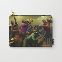 Tribute to 'Harlem Jazz' African American Harlem portrait painting Carry-All Pouch