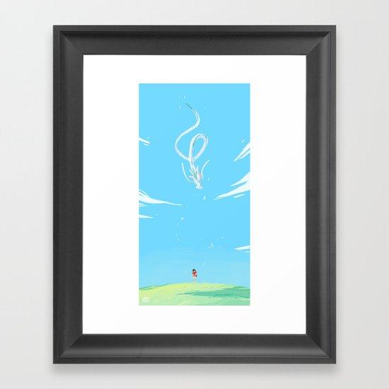 One summer day Framed Art Print