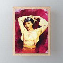 Anna May Wong, Actress Framed Mini Art Print