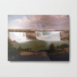 Alvan Fisher General View of the Falls of Niagara Metal Print
