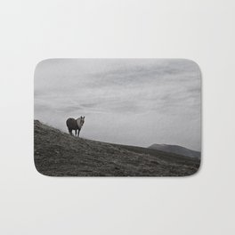 A Pony in the Pyrenees Bath Mat
