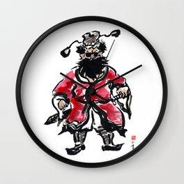 Zhong Kui the Ghost Catcher  Wall Clock