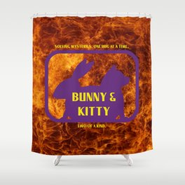 Bunny and Kitty Very Best Friends Shower Curtain