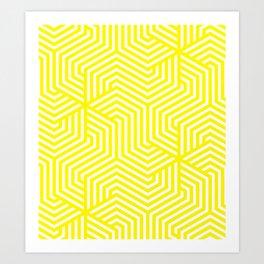 Cadmium yellow - yellow - Minimal Vector Seamless Pattern Art Print