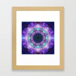 Trippy Purple Deep Space Mandala Framed Art Print