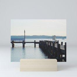 Pier and river | Severn River, MD Mini Art Print