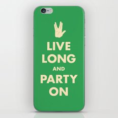 live Long and Party On (Green) iPhone & iPod Skin